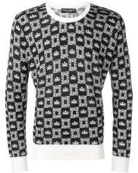 Dolce & Gabbana All-over Print Sweater - Black