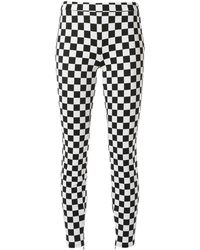 Boutique Moschino Check Print Skinny Pants - Black