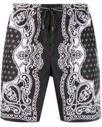 Dolce & Gabbana Bañador con estampado de Bandana - Negro
