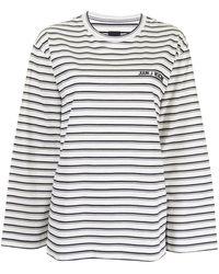 Juun.J ストライプ ロゴ Tシャツ - ホワイト
