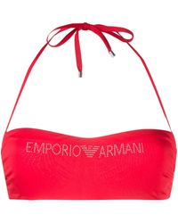 Emporio Armani - ロゴ ビキニトップ - Lyst