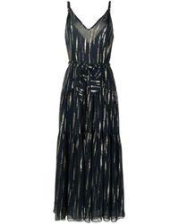 Manning Cartell Metallic Print Maxi Dress - Blue