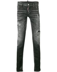 DSquared² - Faded Distressed Jeans - Lyst