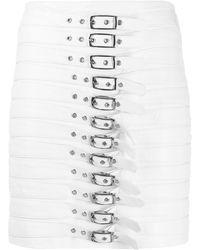 Manokhi バックルディテール スカート - ホワイト