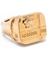 Versace Перстень С Декором Medusa - Металлик