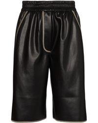 Nanushka Shorts Van Imitatieleer - Zwart