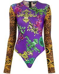 Versace Jeans Couture Боди С Леопардовым Принтом - Многоцветный