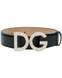 Dolce & Gabbana 'DG' Gürtel - Schwarz