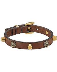 Gucci Armband mit Löwenköpfen - Braun