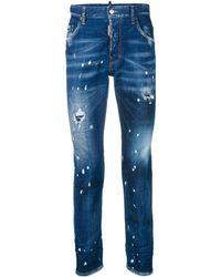 DSquared² Gescheurde Skinny Jeans - Blauw