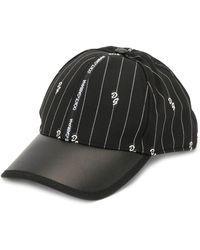 Dolce & Gabbana Honkbalpet Met Krijtstreep - Zwart