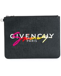 Givenchy - Клатч На Молнии С Вышитым Логотипом - Lyst