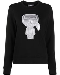 Karl Lagerfeld Quilted Karl Sweatshirt - Black