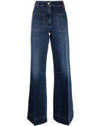 Victoria Beckham Vaqueros anchos - Azul