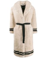 3be56fb90d2a Ermanno Scervino - Belted Faux-fur Coat - Lyst