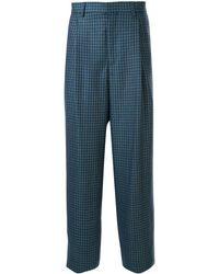 E. Tautz Pantalones de vestir a cuadros - Azul