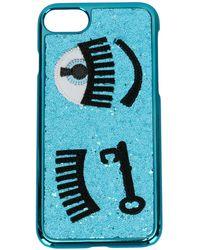 Chiara Ferragni Iphone 7 ケース - ブルー