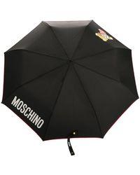 Moschino Paraplu Met Print - Zwart