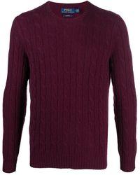 Polo Ralph Lauren Кашемировый Джемпер Фактурной Вязки - Красный