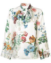Dolce & Gabbana - Floral Vase Print Blouse - Lyst