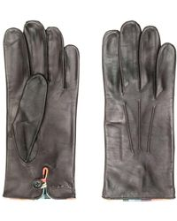 Paul Smith Embossed Logo Gloves - Brown