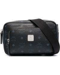 MCM ロゴ ベルトバッグ - ブラック