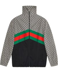 Gucci Giacca Oversize In Jersey Tecnico - Gray