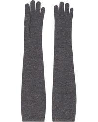 Brunello Cucinelli Длинные Трикотажные Перчатки - Серый