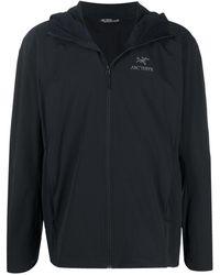 Arc'teryx Спортивная Куртка С Вышитым Логотипом - Черный