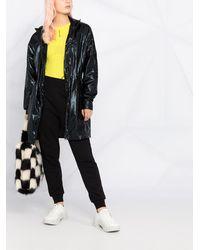 Karl Lagerfeld Ikonik メタリック パーカーコート - ブラック