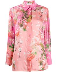 Givenchy - Blusa floral con lazo - Lyst