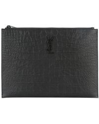 Saint Laurent - Monogram Zip Pouch - Lyst