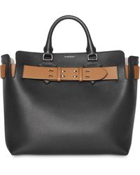 Burberry Grand sac à main The Belt - Noir