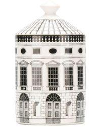Fornasetti Architettura Otto Scented Candle - White