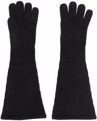 Totême カシミア手袋 - ブラック