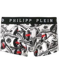 Philipp Plein プリント ボクサーパンツ - ブラック