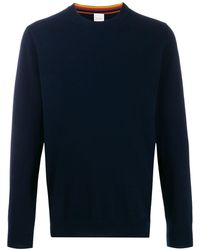 Paul Smith Cashmere Crew-neck Sweater - Blue