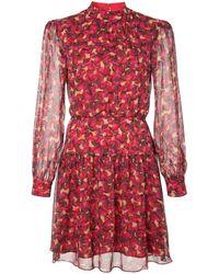 Saloni - Floral Print Mini Dress - Lyst