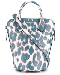 CALVIN KLEIN 205W39NYC Leopard Print Tote - Blue