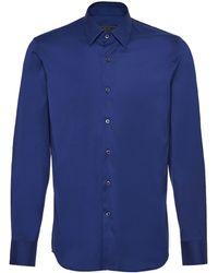 Prada Plain Poplin Shirt - Blue