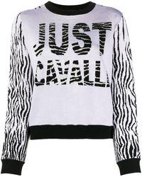 Just Cavalli インターシャ セーター - グレー