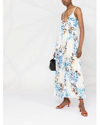 Lala Berlin Butterfly-print Maxi Dress - White