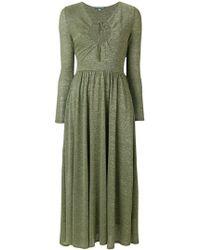 ALEXACHUNG - Tie Neck Dress - Lyst