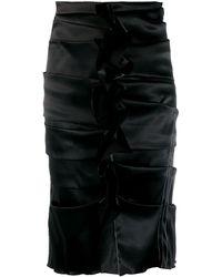 Acne Studios プリーツスカート - ブラック