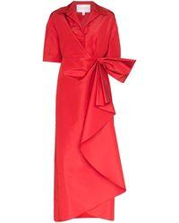 Carolina Herrera Maxikleid aus Seide - Rot