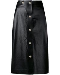 Victoria Beckham - Midi Leather Skirt - Lyst