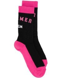 MSGM ニット靴下 - ブラック