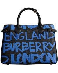 Burberry - The Medium Banner In Graffiti Print Leather - Lyst