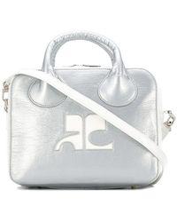 Courreges - Metallic Logo Tote Bag - Lyst
