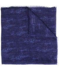 Altea カモフラージュ スカーフ - ブルー